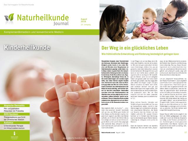 Frühkindliche Entwicklung und Förderung - Artikel Naturheilkunde Journal | Praxis Schleicher & Brückl